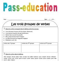 1er 2ème Et 3ème Groupe Ce2 Exercices à Imprimer Sur Les Groupes De Verbes