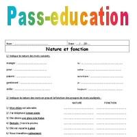 Fonction Nature 6eme Exercices A Imprimer De Grammaire