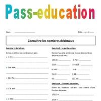 Nombres Decimaux 6eme Exercices A Imprimer