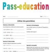 Parentheses 6eme Exercices A Imprimer