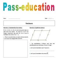 Vecteurs 2nde Exercices Corriges
