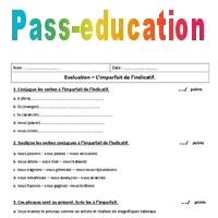 Imparfait 6eme Evaluation A Imprimer