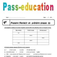 Preterit Simple Present Perfect 4eme Exercices A Imprimer