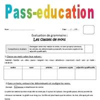 Classes De Mots Cm1 Bilan A Imprimer