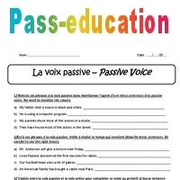 Voix Passive Passive Voice 3eme Exercices Corriges