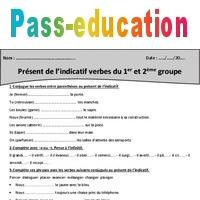 Present De L Indicatif Verbes Du 1er Et 2eme Groupe Cm2 Exercices