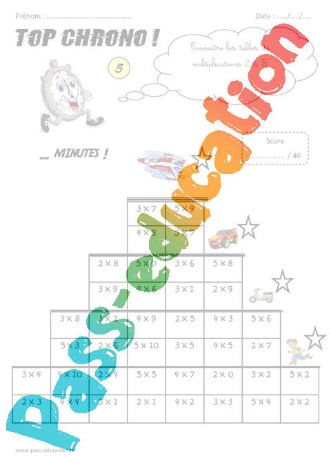 cm1 - calcul mental - top chrono - rituel
