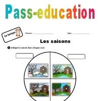 Roue des saisons - Ce1 - Exercices - Pass Education