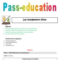 Changements d'état Ce1 Plan de séquence Pass Education