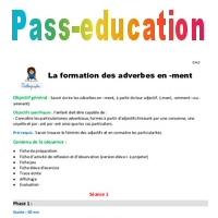 La Formation Des Adverbes En Ment Cm2 Fiche De Preparation
