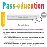 Champ Lexical Et Vocabulaire De La Peinture Cm2 Lecon Pass Education