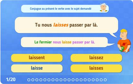 Exercices en ligne : Conjugaison : CE1 - Cycle 2 - Pass Education