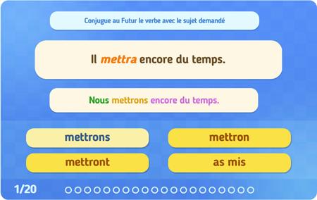 Exercices En Ligne Conjugaison 5eme