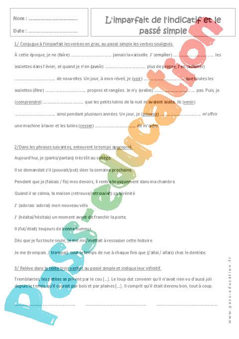 Exercice Concordance des temps : 4ème - Pass Education