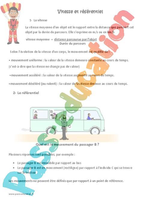 Exercice Matière, mouvement, énergie, information : CM1 - Cycle 3 - Pass Education
