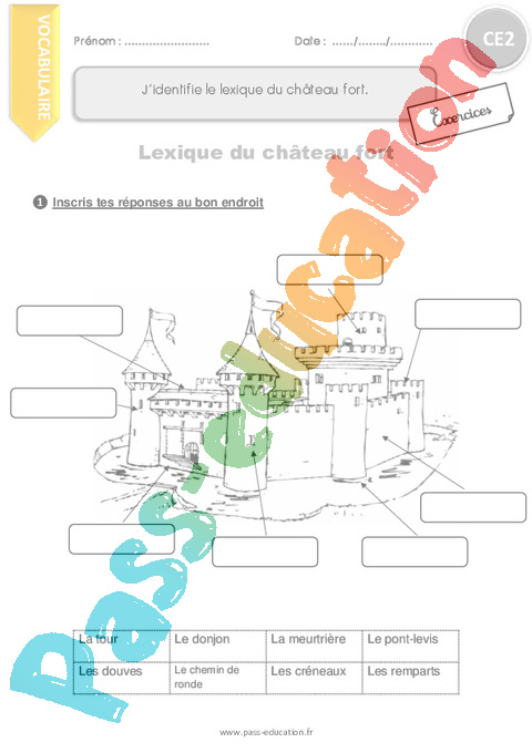 Exercice Vocabulaire : CE2 - Cycle 2 - Pass Education