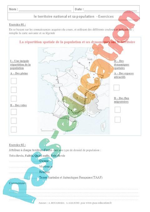 Géographie : 3ème - Soutien scolaire : exercices cours ...