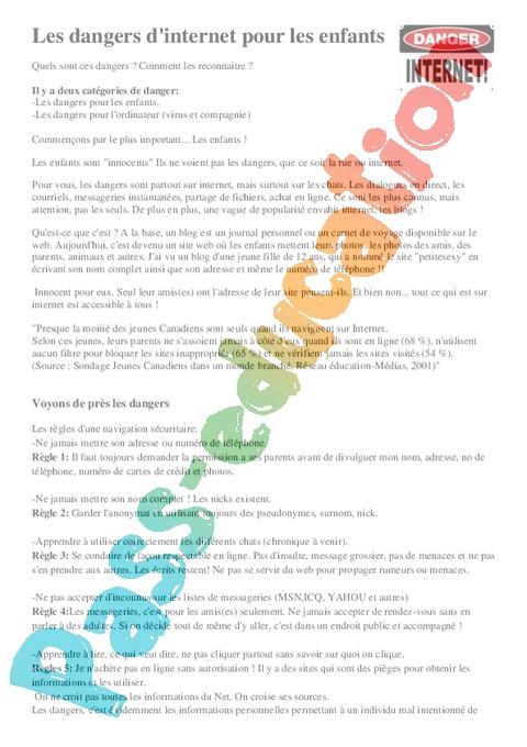 Internet - Créer une boîte mail : CM1 - Cycle 3 - Exercice ...