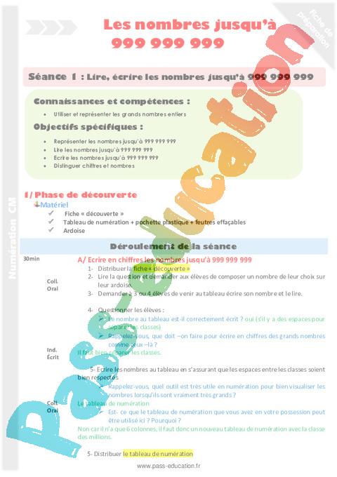 Numeration Cm1 Cycle 3 Soutien Scolaire Exercice Evaluation Revision Lecon