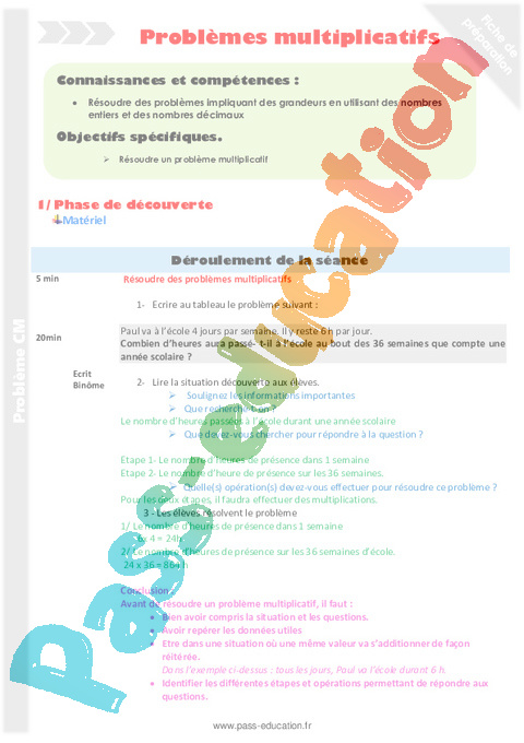 Problemes Cm2 Cycle 3 Soutien Scolaire Exercice Evaluation Revision Lecon