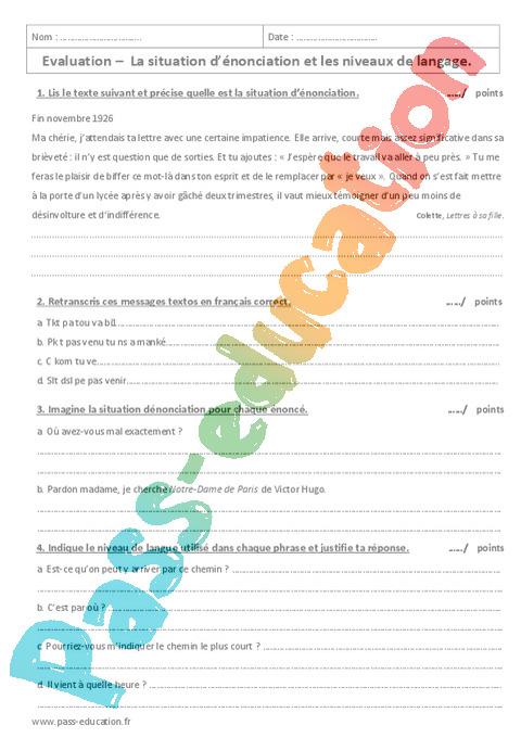 Vocabulaire : 4ème - Exercices cours évaluation révision ...