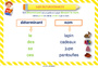 Affichage pour la classe Classes de mots : CP