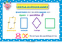 Affichage pour la classe Quadrilatères : CM1