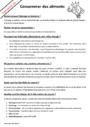 Leçon et exercice : Besoins alimentaires : CM1