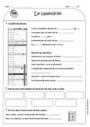 Leçon et exercice : Calendrier : CE1