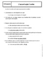 Cours Accord sujet verbe : 6ème