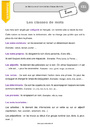 Leçon Classes de mots : CE1