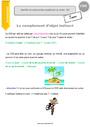 Leçon complément du verbe: COD, COI, COS : CM1