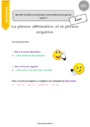 Leçon Formes de phrases : CE2