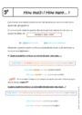 Cours La phrase - Anglais : 5ème