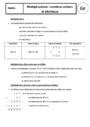 Cours Multiplication : 6ème