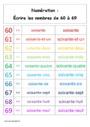 Leçon Nombres de 60 à 69 : CP