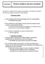 Cours Phrase simple et complexe : 6ème
