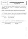 Cours Propositions subordonnées : 5ème