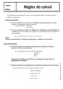 Cours Règles de calcul : 5ème