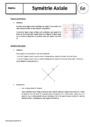 Cours Symétrie axiale : 6ème