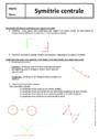 Cours Symétrie centrale : 5ème