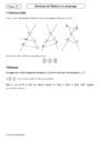 Cours Théorème de Thalès et sa réciproque : Seconde - 2nde
