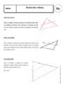 Cours Triangles : 4ème