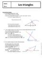 Cours Triangles : 5ème