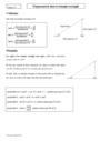 Cours Trigonométrie dans le triangle rectangle : Seconde - 2nde