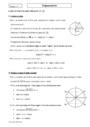 Cours Trigonométrie : Première