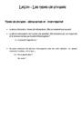 Leçon Types de phrases : CE1