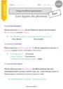 Leçon Types de phrases : CM1