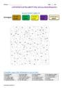 Coloriage magique - Accord de l'adjectif qualificatif : CM1