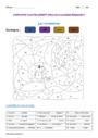Coloriage magique - Homonymes, homophones : CE2